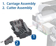 HP Designjet Cutter Assembly - Diagram and schematic