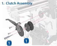 HP Designjet Clutch Assembly - diagram and schematic