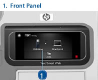 HP Designjet Front Panel - Diagram and Schematic