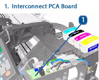 HP Designjet Interconnect PCA Board - drawing and schematic