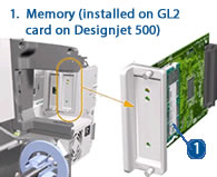 HP Designjet Memory / GL2 card - diagram and schematic