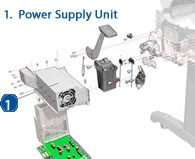 HP Designjet Power Supply Unit - diagram and schematic
