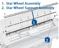 HP Designjet Starwheel Assembly - diagram and Schematic