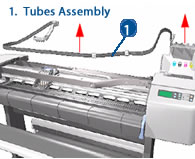 HP Designjet Ink Tubes Assembly (RIDS) - diagram and schematics