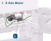 HP Designjet X Axis Motor (Paper Motor) - Diagram and schematic