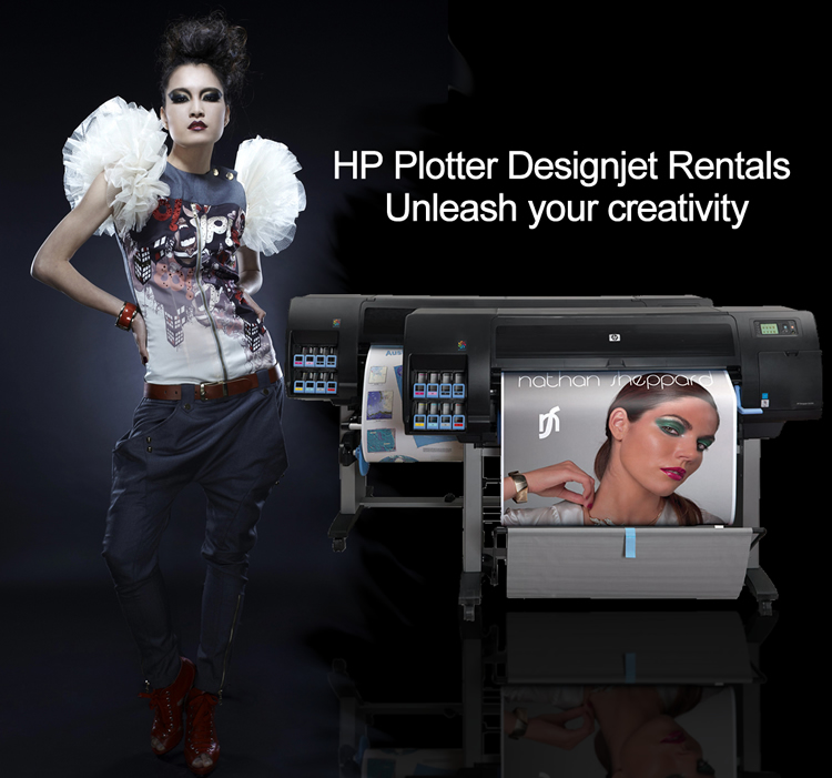 HP Plotter Designjet rentals - unleash your creativity