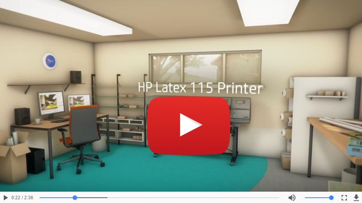 HP Latex 115 Printer 1QE01A Video