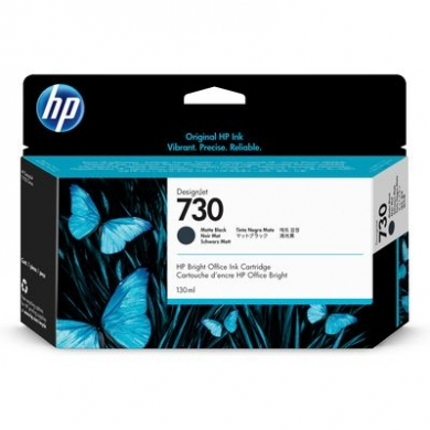 HP 730 130-ml Matte Black DesignJet Ink Cartridge (P2V65A)