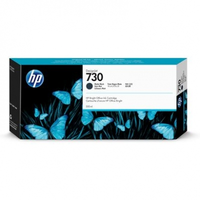 HP 730 300-ml Matte Black DesignJet Ink Cartridge (P2V71A)
