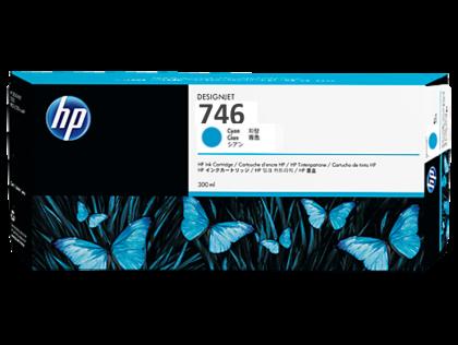 HP 746 Original 300ml Cyan DesignJet Ink Cartridge (P2V80A)