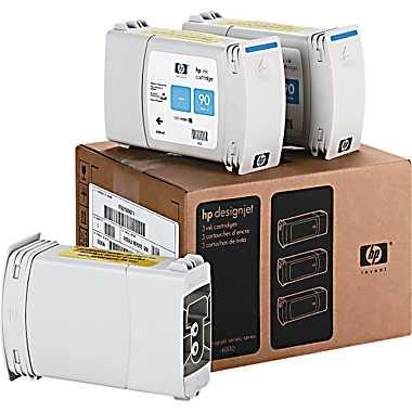 HP Designjet Triple Pack Cyan ink cartridge No. 90
