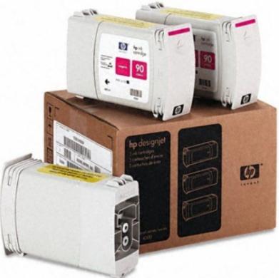 HP Designjet Triple Pack Magenta ink cartridge No. 90