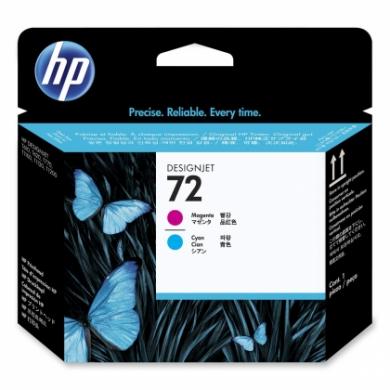 HP No. 72 Cyan and Magenta Printhead