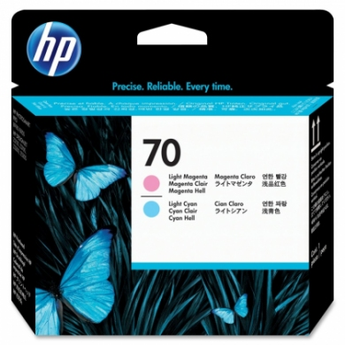 HP No. 70 Light Magenta and Light Cyan Printhead