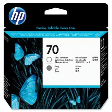 HP No. 70 Grey and Gloss Enhancer Printhead