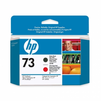 HP No. 73 Matte Black and Chromatic Red Printhead