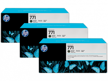 HP Designjet Triple Pack Cyan ink cartridge No. 771