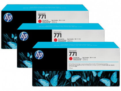 HP Designjet Triple Pack Chromatic Red ink cartridge No. 771
