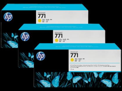 HP Designjet Triple Pack Yellow ink cartridge No. 771