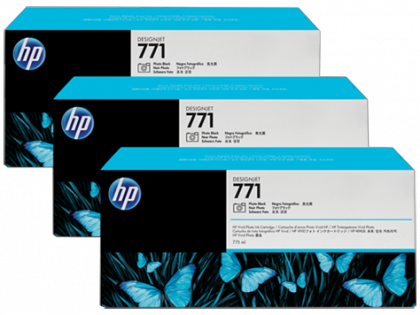 HP Designjet Triple Pack Photo Black ink cartridge No. 771
