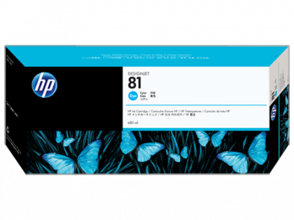 HP Designjet Cyan ink cartridge No.81