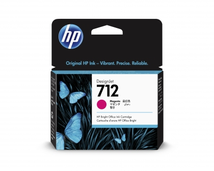 HP 712 DesignJet Magenta 29ml Ink Cartridge (3ED68A)