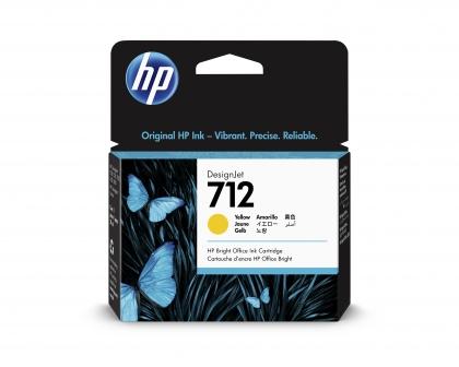 HP 712 DesignJet Yellow 29ml Ink Cartridge (3ED69A)
