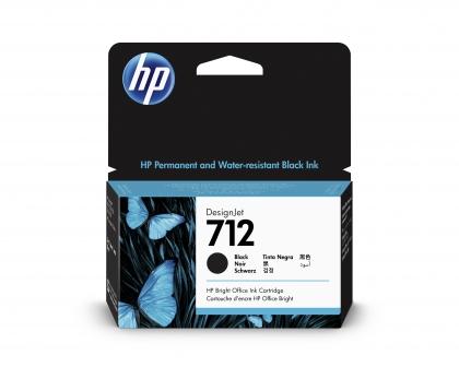HP 712 DesignJet Black 38ml Ink Cartridge (3ED70A)