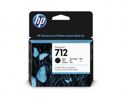 HP 712 DesignJet Black 80ml Ink Cartridge (3ED71A)