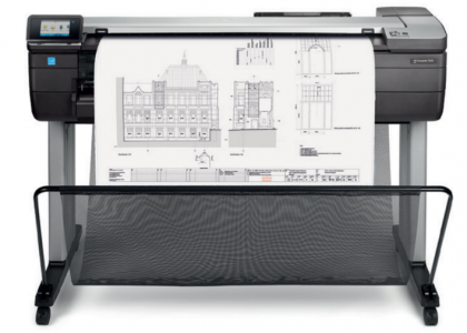 HP DesignJet T830 A0 portable CAD printer with protective casing and Wi-Fi