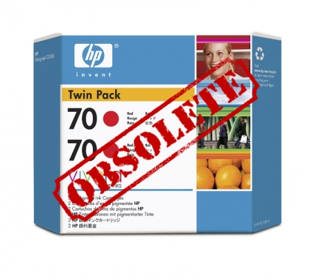 HP Designjet Twin Pack Red ink cartridge No. 70