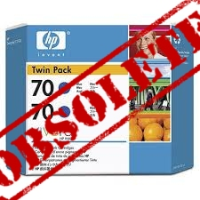 HP Designjet Twin Pack Blue ink cartridge No. 70