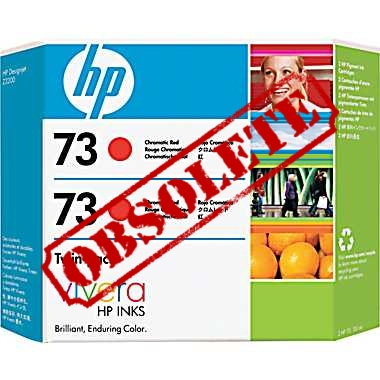 HP Designjet Twin Pack Chromatic Red ink cartridge No. 73
