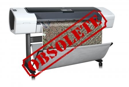 Designjet T1120 PS 44'' CK840A CAD Printer