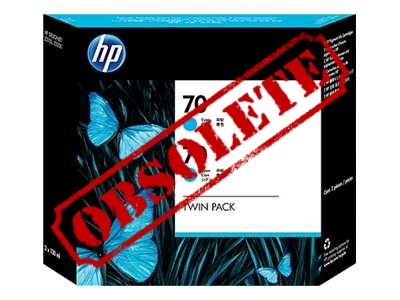 HP Designjet Twin Pack Cyan ink No.70