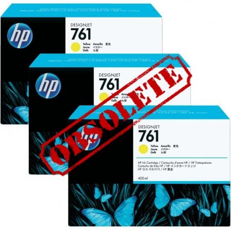 HP Designjet Triple Pack Yellow ink No.761