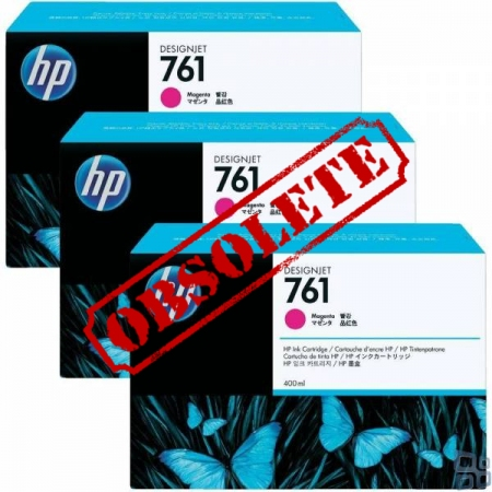 HP Designjet Triple Pack Magenta ink No.761
