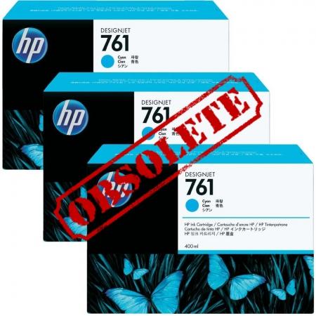 HP Designjet Triple Pack Cyan ink No.761