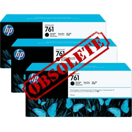 HP Designjet Triple Pack Matte Black large ink No.761