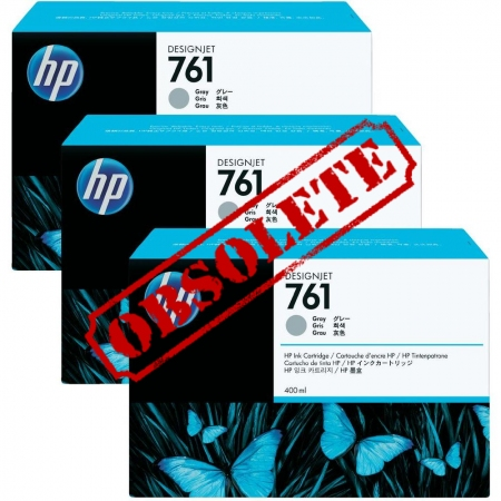 HP 761 Original Triple Pack Grey Ink Cartridge 3 x 400ml (CR273A)