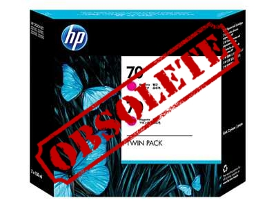 HP Designjet Twin Pack Magenta ink No.70