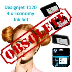 HP Designjet T120 full set of Economy Inks (T120ECO)