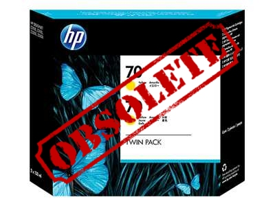 HP Designjet Twin Pack Yellow ink No.70
