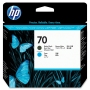 HP 70 Matte Black and Cyan Printhead (C9404A)
