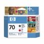 HP 70 Matte Black and Red Printhead (C9409A)
