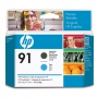 HP 91 Matte Black and Cyan Printhead (C9460A)