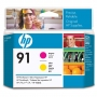 HP 91 Magenta and Yellow Printhead (C9461A)
