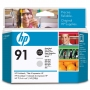 HP 91 Photo Black and Light Grey Printhead (C9463A)
