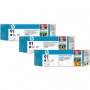 HP 91 Designjet Triple Pack Matte Black Ink Cartridge (C9480A)