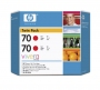 HP 70 Designjet Twin Pack Red Ink Cartridge (CB347A)